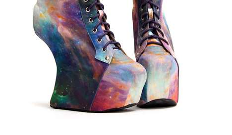 Sky-High Patterned Shoes - The Jeffrey Campbell for Black Milk Collection is out of This World