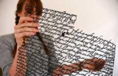 Annie Vought's Paper Cut Letters Features Delicate Penmanship