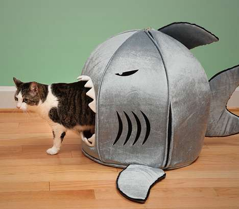 shark shaped pet bedding