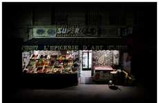 Nighttime Storefront Photographs