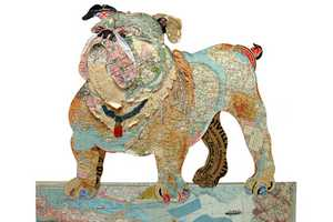 The Peter Clark Dog Collages Get Tails Wagging
