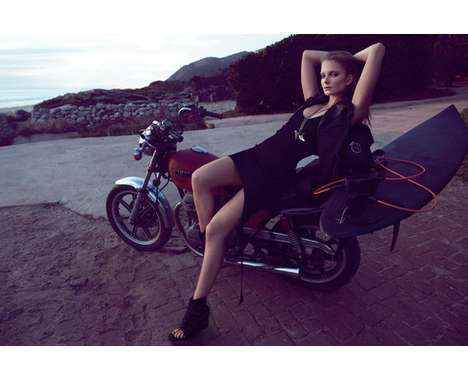 36 Exquisite Biking Photoshoots - From Motorcycle-Riding Lookbooks to Chic City Cycling Captures