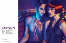 Sensually Saturated Photoshoots - The FASHIONTREND 'Babylon' Editorial is Dark and Seductive