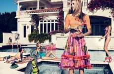 Pool Party Editorials - The Velvet June 2012 Photoshoot Stars a Hospitable Valentina Zelyaeva