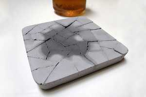 The Kalki'd Water Absorbent Concrete Coaster is a Natural Marvel