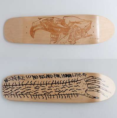good wood skateboard art exhibition