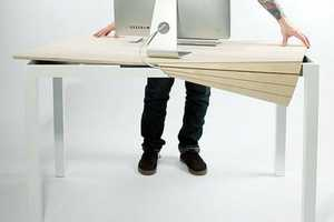 The Tambour Table Helps Organize Your Geek Gadgets