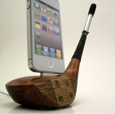 golf club iphone dock