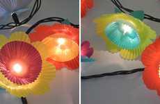 DIY Flower Party Lights