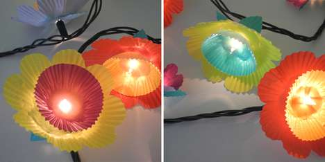 cupcake liner lighting