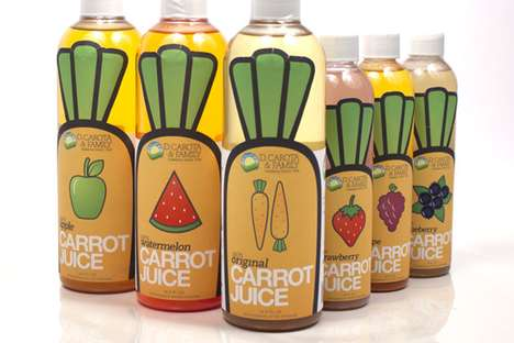 Veggie-Branded Edibles - D. Carota Packaging Embodies the Image of its Healthy Contents