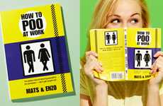 Humorous Restroom Handbooks - How to Poo At Work by Mats and Enzo Deals with Awkward Situations