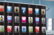 Smartphone App Bathroom Drapery