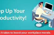 Work Productiveness Charts - Productivity Infographic Shows How to Be More Productive at Work