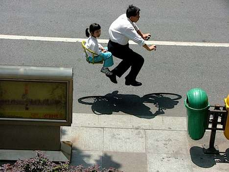 floating bike photography zhao huasen