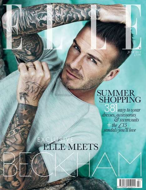 david beckham elle uk july 2012 cover
