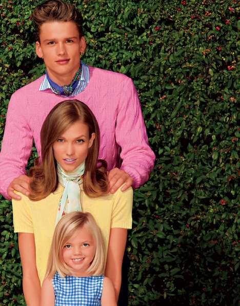 Perfect Family Pictorials - The Americana Manhasset Spring/​Summer 2012 Lookbook is Retro-Infu