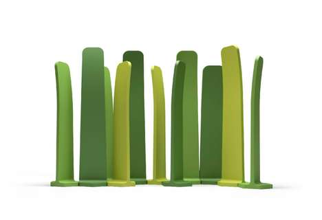 Magnified Turf Partitions - Gradient by Mut Design Divides Indoor Spaces with Blades of Grass