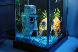 These Spongebob SquarePants Bikini Bottom Aquarium Ornaments are Cute