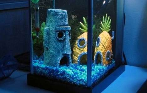 spongebob squarepants bikini bottom aquarium ornaments