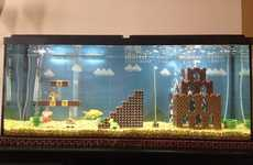 Geeky 8-Bit Aquariums - The Super Mario Fish Tank Lets Sea Creatures Swim with Goombas