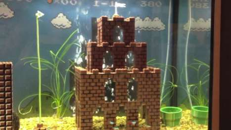 super mario fish tank
