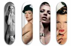 Starlet Studded Skateboards - The Jeff Gaudinet 'Skate Moss' Project is an Artistic Collaboration