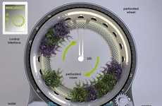 Halo-Shaped Hydroponic Systems
