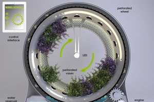 The Green Wheel by DesignLibero Rotates Plants 360 Degrees