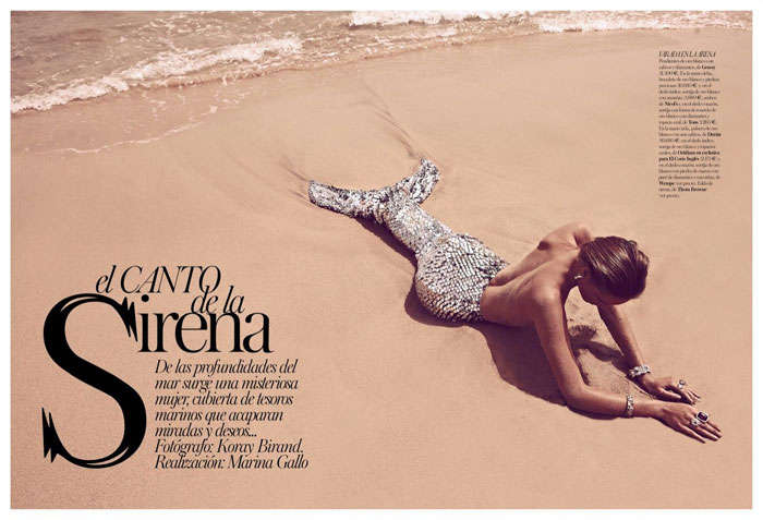 Bejeweled Mermaid Editorials