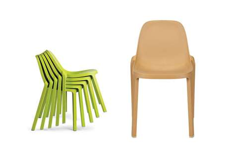 Sawdust-Made Seating - The Broom Chair is Stylishly Simple and Eco-Friendly