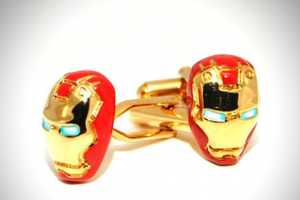 These Iron Man Cufflinks are Comic Book-Inspired