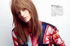 Multi-Colored Floral Fashions - The Numero Tokyo 58th Issue Features Patricia Van Der Vliet
