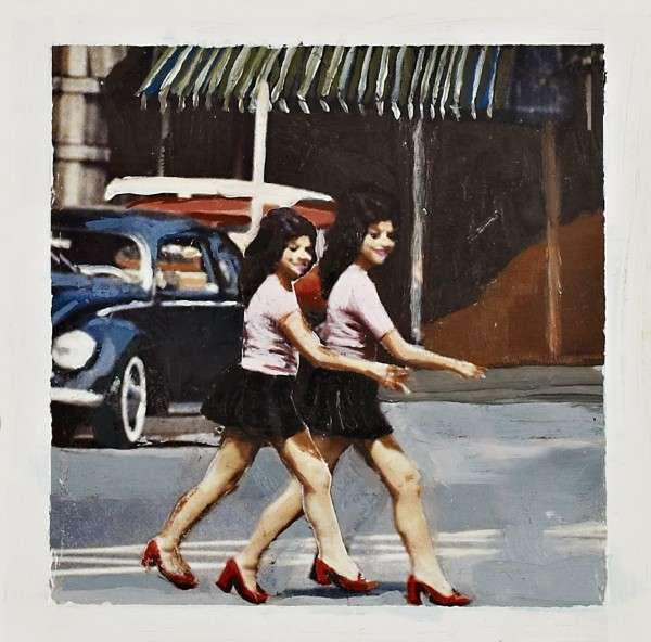 Juxtaposed Polaroid Paintings