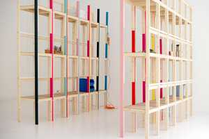 The Latten Shelving Unit Employs One Type of Piece for Another Purpose