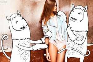 Hicham Riad and Kid Acne Collaborate for Elle Belgium June 2012