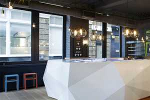 The Gundry & Ducker 'Yoobi Sushi' Shop is Geometric