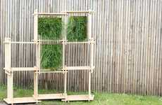 Slatted Herbage Storage - The Standard Numero 4 Vegetalise Affords and Orderly Arrangement of Plants
