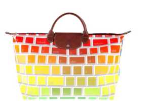 This Travel Bag by Jeremy Scott and Longchamp is Computer-Inspired