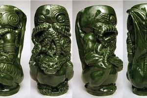 The Cthulhu Tiki Mug Honors H.P. Lovecraft's Cult Classic Short Story