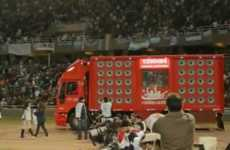 Clamor-Collecting Campaigns - The Cheering Truck by Coca-Cola Records Fans' Love for the Soccer Team