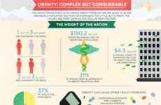 Fat-Tracking Charts - Obesity Infographic Shows the Dangers and Prevalence of Obesity in America