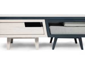 Daniel Pearlman Cleverly Fits Two Chairs and Table in a Small Space