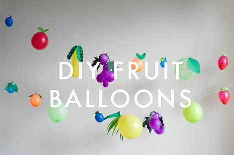 Sweet Treat Inflatables - The 'Oh Happy Day' Fruit Balloons DIY is Delightfully Easy