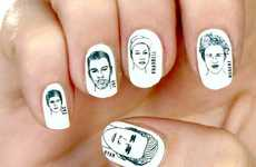 Hunky Celeb Nail Stickers - Stare All You Want at the Ryan Gosling Manicure by Rad Nails
