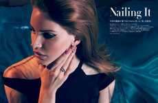 Glamorously Manicured Editorials - The Vogue Japan 'Nailing It' Photoshoot Stars Lana del Rey