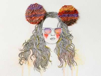 Embroidered Hipster Portraiture