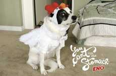 "Dressed-Up Dog Ads - The Eno Antacid Campaign Shows That ""You Can't Fool Your Stomach&#8"