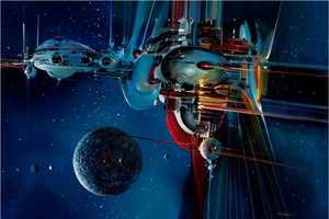 John Berkey Illustrates Wondrous Images of Futuristic Spacecrafts