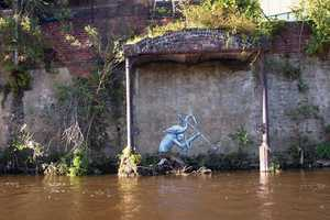 Waterways by Phlegm is a Series of Creepy Street Art